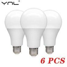 Светодиодная лампочка e27 6 шт/Лот 220 В переменного тока 240
