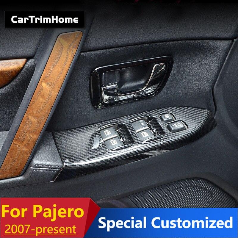 Para Mitsubishi Shogun V80 accesorios coche estilismo ventana vidrio elevador interruptor cubierta del Panel adornos para Mitsubishi Pajero 2007-2019 LARBLL, lámpara de cúpula trasera para coche, luz de lectura, cubierta de lente MR250712 para Mitsubishi Lancer Outlander EX ASX Pajero V73 V77