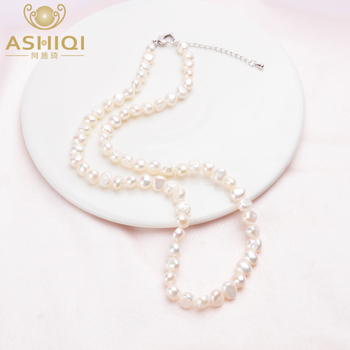 ASHIQI  Natural Freshwater Pearl Necklace Vintage Baroque Jewelry for Women 2020 Trend Gifts The New Year - discount item  70% OFF Fine Jewelry