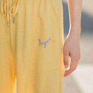 Image 4 - INMAN 2020 여름 새로운 도착 패션 레저 드레이프 벨트 발목 길이 엉덩이 팬츠와 슬림