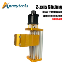 CNC 3018plus Zaxis module support 300W/500W Spindle 52mm Aluminum Z-axis Sliding Table Apply Nema17 42HS48MM Stepper motor