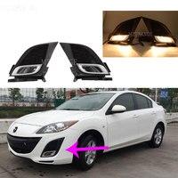 fog lights for Mazda 3 BL 2008 2013 fog light headlight halogen foglight lamp hoods frame Wiring Grilles Harness Switch Kit