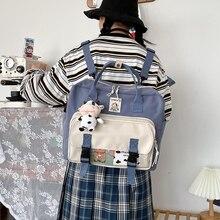 Прекрасный многофункциональный рюкзак подросток девушка кольцо пряжка плечо сумка портативный 20CA