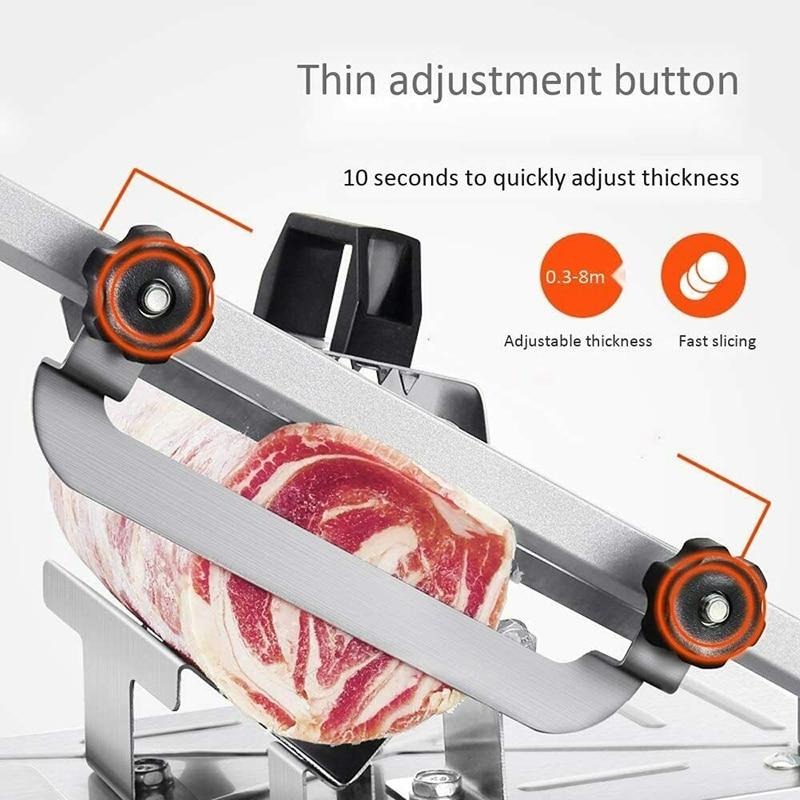 Manual de aço inoxidável frozens carnes slicer