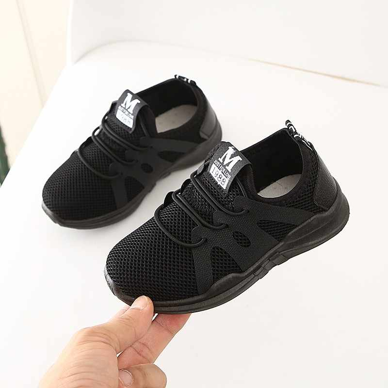 2020 yeni satış moda çocuk bebek çocuk bebek kız erkek mektup örgü spor Run Sneakers rahat ayakkabılar çocuk ayakkabı nefes