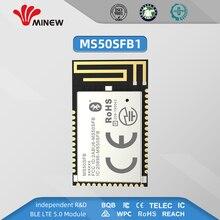 Nordic nrf52832 โมดูล UHF Wireless 2.4 GHz เครื่องส่งสัญญาณ UART ยาวเครื่องส่งสัญญาณ minew MS50SFB1
