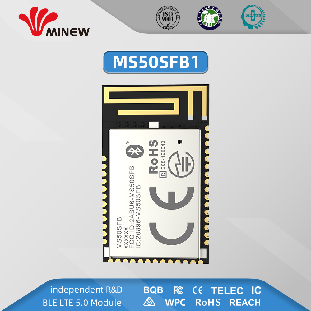 Nordic Nrf52832 Module Uhf Wireless Data 2.4 Ghz Receiver Transmitter Uart Long Range Transmitters Minew MS50SFB1