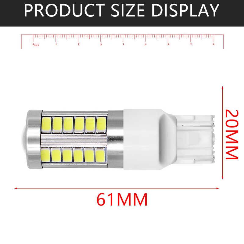 2pcs T20 7443 W21/5W 33 SMD 5630 5730 LED Auto Brake Lights 21/5w Car DRL Driving Lamp Stop Bulbs Turn Signals White Amber DC12V