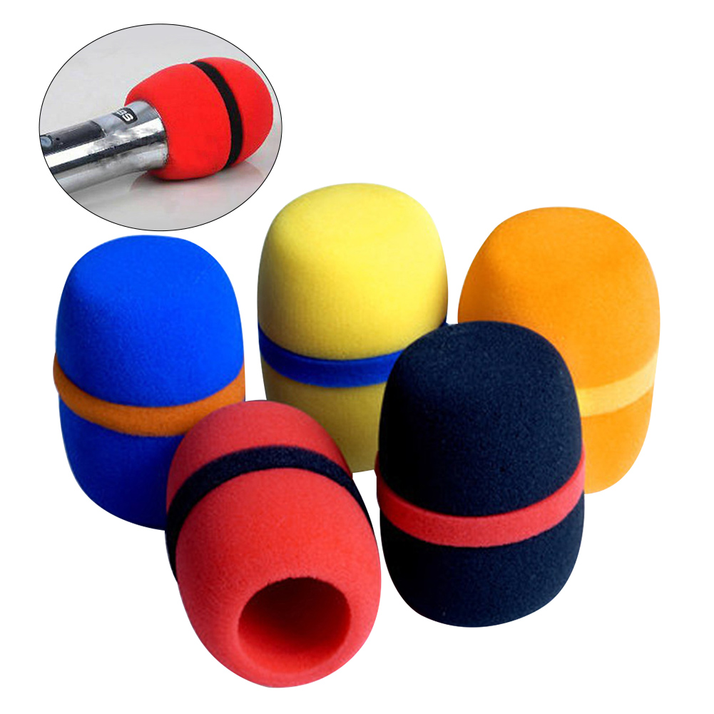 10pcs Headset Windscreen Thickened KTV Handheld Dust Proof Soft Sponge Microphone Cover Studio Cap Foam Replacement Accessories