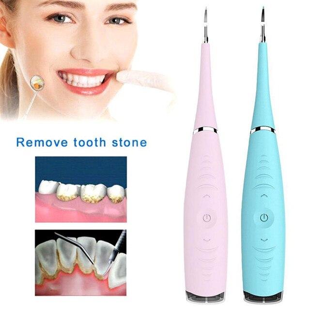 المحمولة الكهربائية sonic جدا sonic مبيضة أسنان الأسنان البقع التتار Usb شحن الأسنان مزيل حساب التفاضل والتكامل الأسنان تبييض أداة