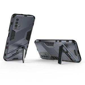 Image 2 - Schokbestendig Case Hybrid Armor Bumper Cool Punk Houder Voor Xiaomi Redmi 9 T Case Redmi Note 9 T 5G premium Cover Redmi 9 T T9