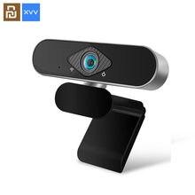 Youpin xiaovv 1080p usb webcam câmera ultra grande ângulo foco automático com microfone embutido para computador portátil ensino em linha