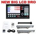 Полный комплект DRO 2 оси новый большой ЖК-дисплей оптическая линия длинная линейка измерительные весы длины 50 мм до 1000 мм