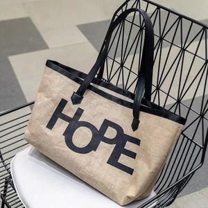 Image 3 - Europejski styl oryginalny Design juty torebki torba na ramię dla ucznia na zakupy torba eko