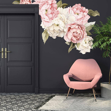 Peony Wall Decal Floral Decals Watercolor Large Self Adhesive Wallpaper Mural Peel and Stick