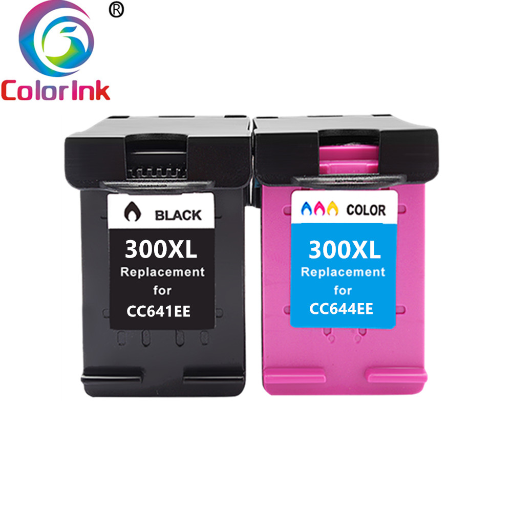 ColoInk 300XL Ink Cartridge Replacement HP300 For HP 300 For HP300 Deskjet D1660 D2560 D5560 F2420 F2480 F4210 Printers