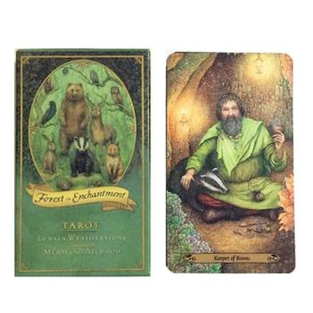 Tarot Cards All English Forest Of Enchantment Tarot Deck For Indoor Family Gift Party Playing Card Game Entertainment