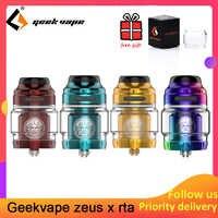 Geekvape Zeus X RTA 4.5 ml/2 ml capacité du réservoir avec 810 Delrin pointe d'égouttement électronique cigarette atomiseur mise à niveau zeus double/AMMIT MTL