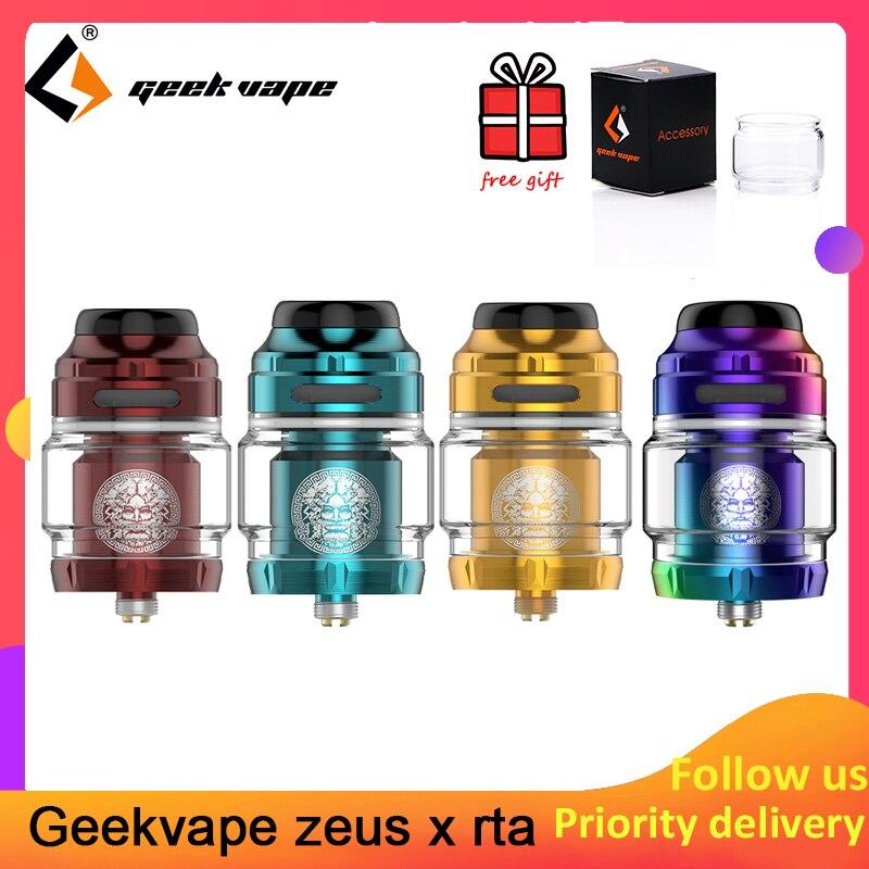 Geekvape zeus x rta 4.5 ml/2 ml capacidade do tanque com 810 delrin gotejamento ponta atomizador cigarro eletrônico atualização zeus duplo/ammit mtl