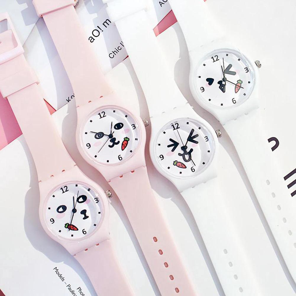 Cartton Watch Children's Watch Kid Girls Cute Animal Pattern Round Dial Silicone Band Analog Quartz Wrist Watch Montre Femme HOT