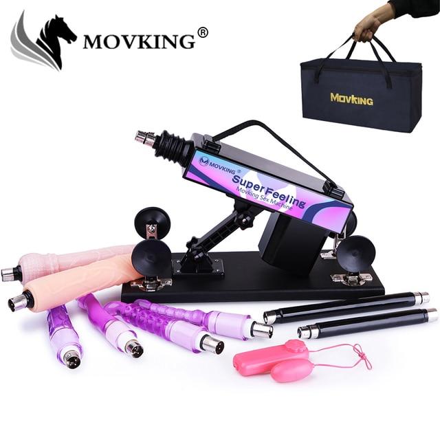 Movkingセックスマシンガン自動オナニー愛機強いバイブレーター女性と男性セックス製品付属ハンドバッグ