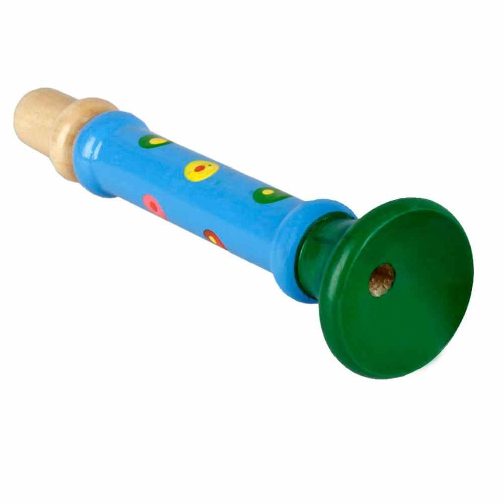 Chifre de madeira trompete trompete instrumento musical brinquedo para crianças educação precoce ferramenta música aprendizagem & educação