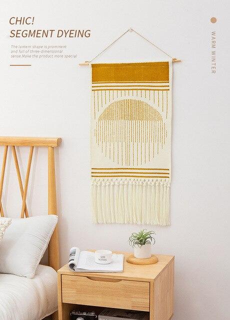 Home Boho Tasseled Tapestry 2