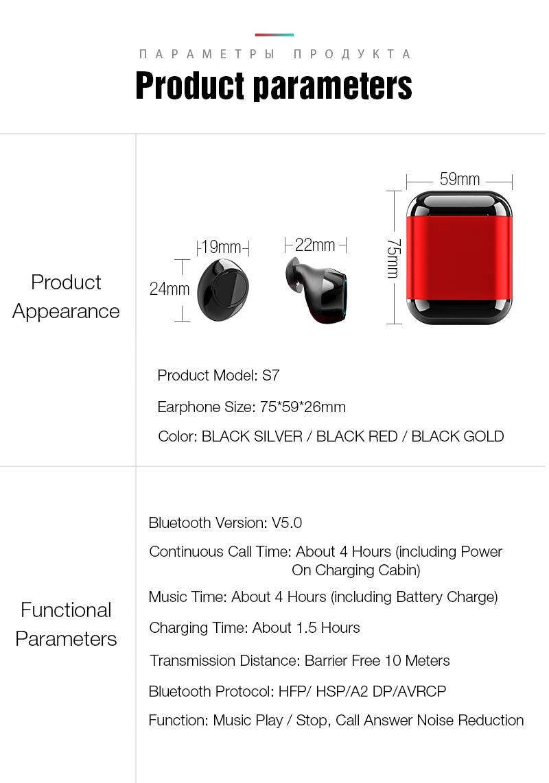 TWS Earbuds Wireless Headphones Bluetooth Earphone Stereo Headset Earphone For Phone With Charging Box Bluetooth Headphones (2)