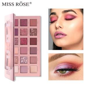 Палитра теней для век Miss Rose телесного цвета, 18 цветов, блестящий водостойкий пигмент, матовая палитра теней для век, макияж, косметика TSLM1