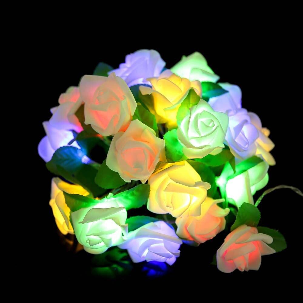 cordao luminoso decorativo 2m 20leds rosa com 04