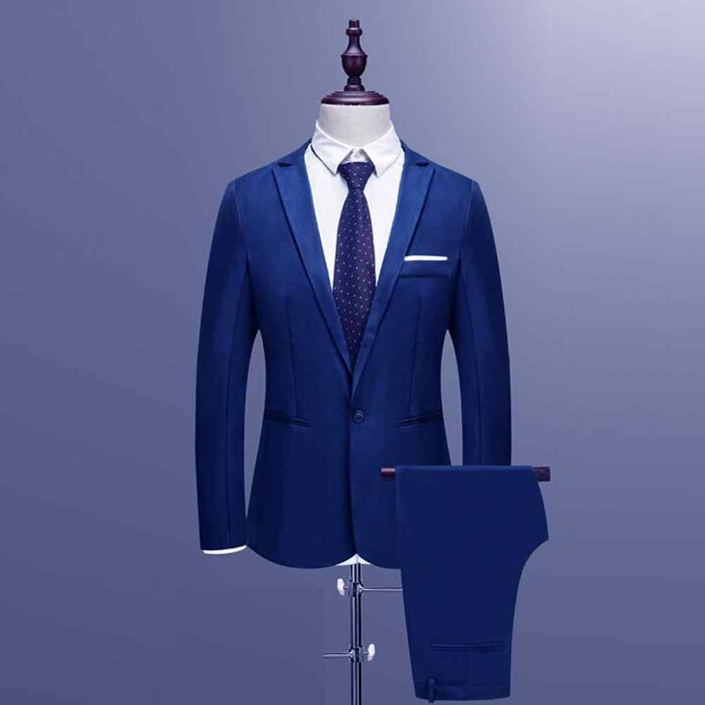 Suit suit male 2019 spring and autumn high-end custom business blazers Two-piece / Slim large size multi-color boutique suit