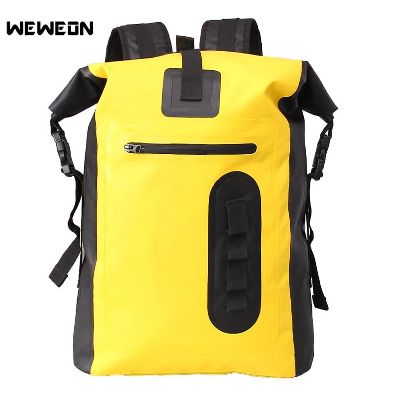 Sac à dos imperméable de natation de sac sec de 30L pour le Rafting de kayak dérivant le grand paquet sec Durable de stockage de sacs bolsa de deporte