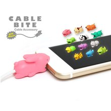 Cable Bite Protector Chompers Animal Winder Shaped Tiger Dog Shape Earphone Accessories & Parts