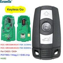 Inteligente keyless go remoto chave 3 btn 315mhz 868mhz id46 chip para bmw cas3 cas3 + 1 3 5 série x5 x6 2006 2011 conforto sistema de acesso