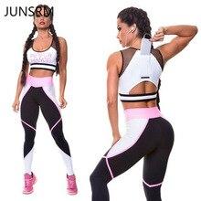 2019 new yoga set casual sports suit sport bra pants slim fitness gym leggings 2 piece women