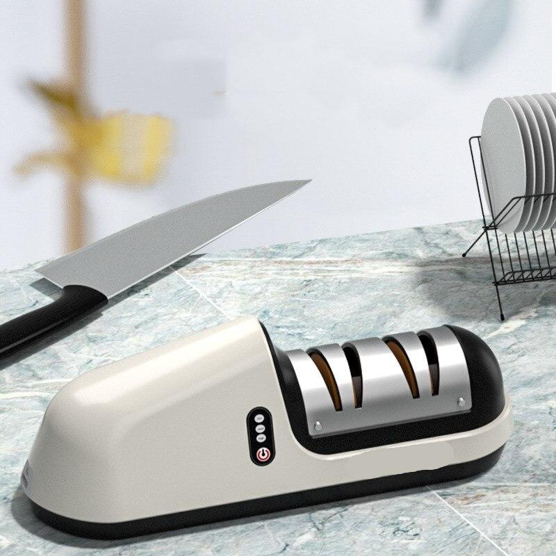 Completamente Automatico Veloce Slittata Diamante Coltello Da Taglio Cucina Temperamatit Affilacoltelli Elettrico