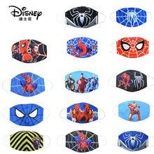 Disney marvel spiderman crianças rosto maks marvel congelado algodão anti-poeira maks proteção para meninos meninas brinquedos