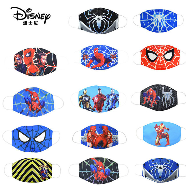 Disney Marvel Spiderman Children's Face Maks Marvel Frozen Cotton Anti-Dust Protective Maks for boys girls toys
