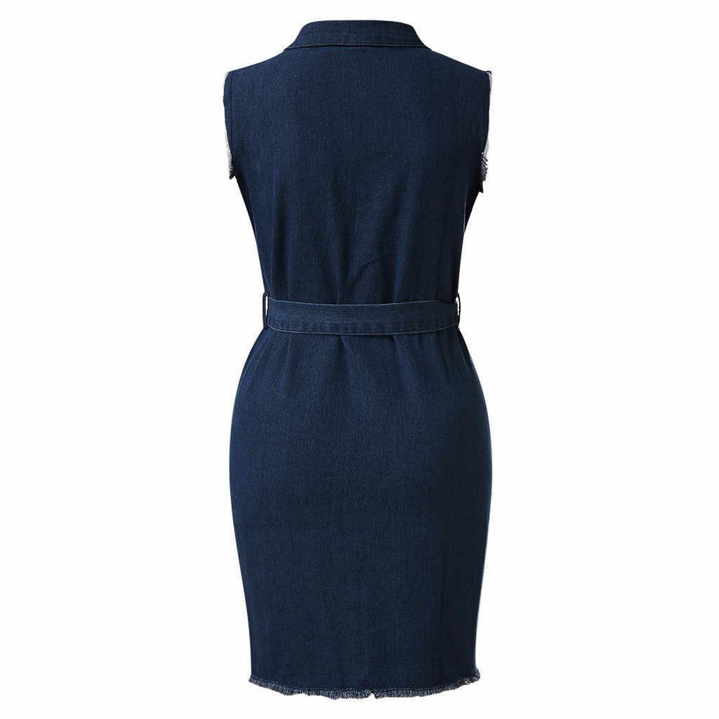 Летнее женское сексуальное платье на пуговицах, джинсовое сексуальное платье, Дамские кружевные джинсы, длинная рубашка, облегающие платья, женские вечерние платья