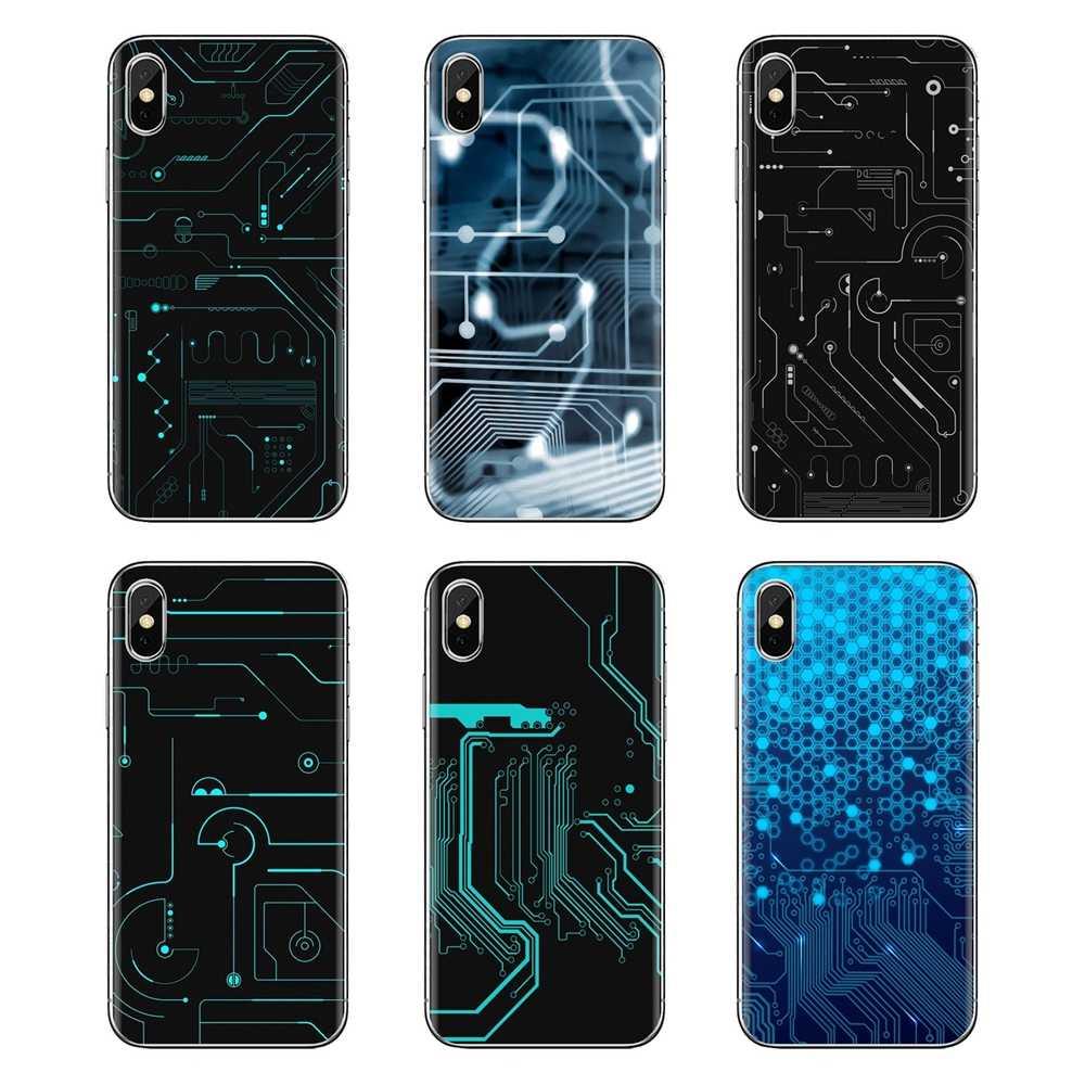 La cubierta de la piel del TPU del para LG espíritu Motorola Moto X4 E4 E5 G5 G5S G6 Z Z2 Z3 G2 G3 C play Plus Mini tu tarjeta de circuitos de núcleo de Smartphone