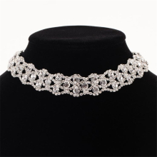 Womens rhinestone necklace Crystal choker Chokers Collar chocker Statement necklaces wedding choker for birde N308 luxury rhinestone chain choker necklace girls crystal choker necklace gold bride collar party necklace for womens jewelry gifts