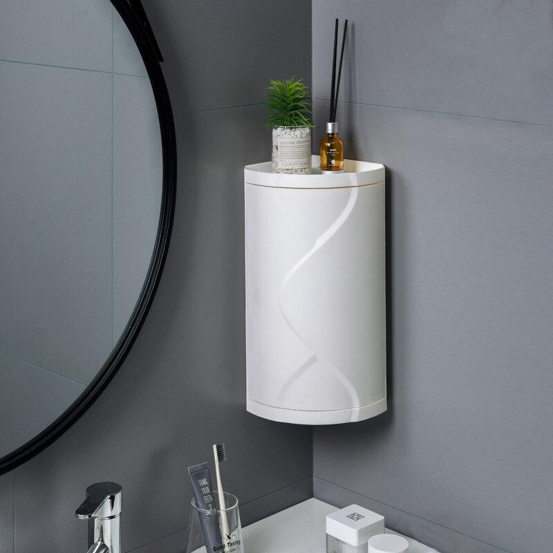 Armoire De Salle De Bain Rotative Meuble D Angle Pour Toilettes Support Pour Rangement Sans Perforation Multifonction En Plastique De Douche Etageres De Cuisine Aliexpress
