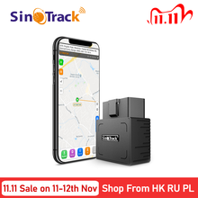Localisateur GPS pour voiture, 16 broches, connecteur OBD2, localisateur GPS pour voiture, logiciel en ligne, application IOS android