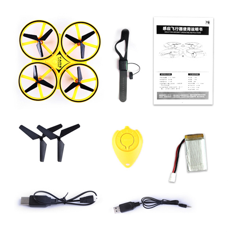 Gesture Sensing Unmanned Aerial Vehicle Watch Sensing Remote Control Aircraft Suspension Obstacle Avoidance Smart Toy UFO