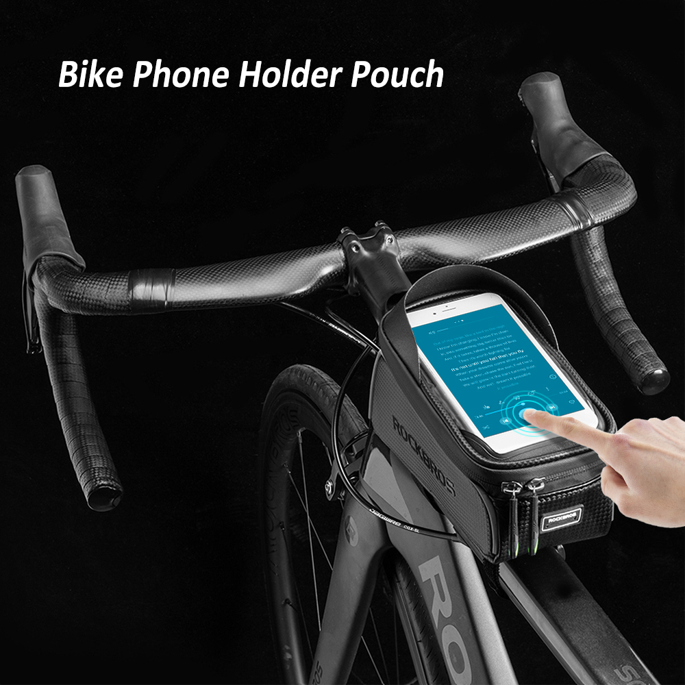 Top Bike Phone Bag Top Tube Bag Cycling Front Frame Bag Phone Holder Touch Screen Bike Phone Pouch Front Pannier Case 2