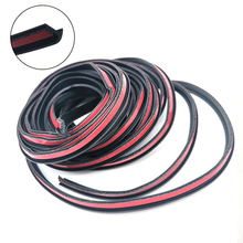 5M Angled T Type Rubber Seal for Car Side Skirts Headlights Bumper