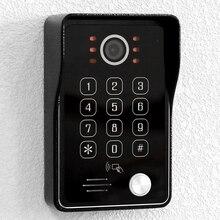 Видеодомофон HomeFong 1080P для видеодомофона широкий угол 140 ° наружный водонепроницаемый ИК Ночное Видение RFID IC карта разблокировка паролем