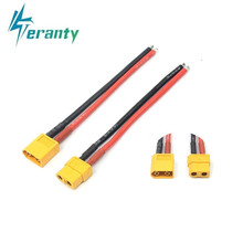 ( 10cm / 100mm ) 1 pair of XT60 Battery Male Female Connector Plug with Silicon 14 AWG Wire for 7.4v 11.1v 14.8v 22.2v battery(China)
