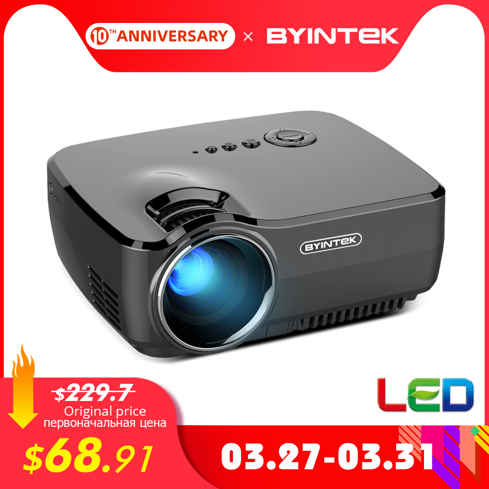 BYINTEK Mini Projector GP70, Portable Home Theater Beamer,LED Proyector For 1080P 3D 4K Cinema
