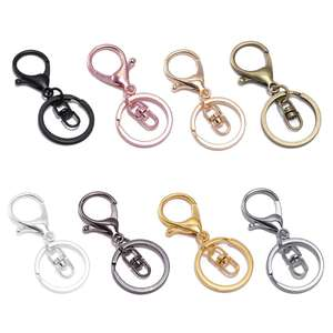10Pcs Metal Swivel Clasp Key Ring Metal Lobster Claw Clasp Hook Make Your Own Key Ring